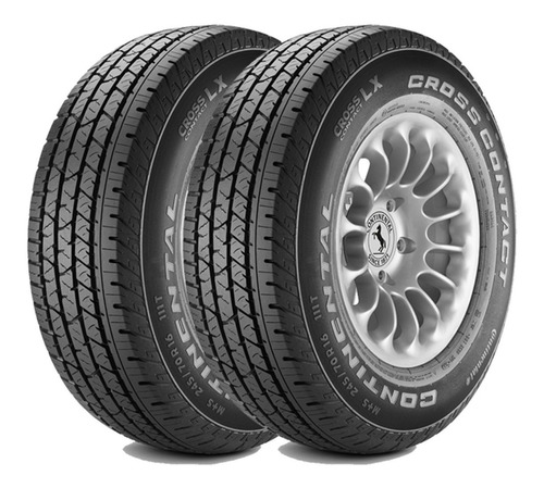 Kit 2 Cubiertas Continental 195/60 R16 Cross Contact Lx 89h
