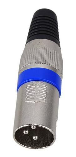 Kit 10 Plugs Conector Xlr Canon Macho Microfone Dmx