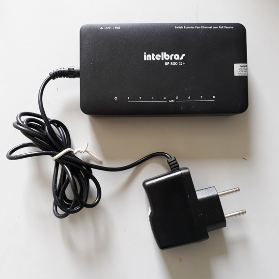 Switch 8 Portas Fast Ethernet Com Poe Passivo Sf 800q+