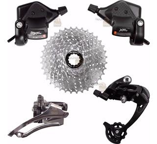 Kit Transmissão Bike 9v Mtb S9 Tsw Cassete Alavanca Câmbio