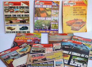 Revistas 4 Rodas Antigas E Outras De Automóveis