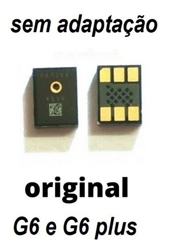 Imagem 1 de 2 de Microfone  Motorola Moto G6 Plus Original Sem Adaptar