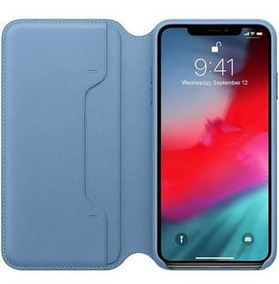 Capa Para iPhone Xs Max Folio Azul Original