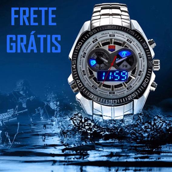 Relógio Masculino Tvg Ana-digi Casual Esportivo Luxo Militar