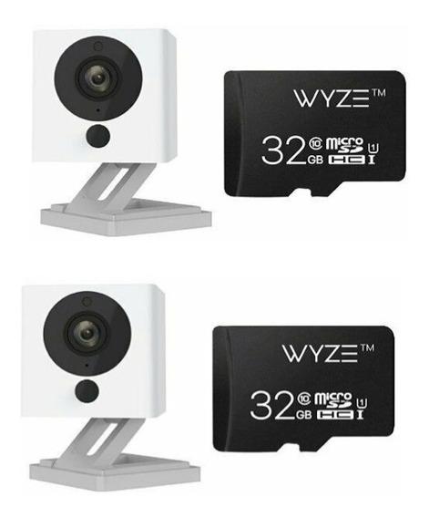 2 Pack Camara Inteligente Wyze Cam V2 1080 Hd Micro Sd 32gb