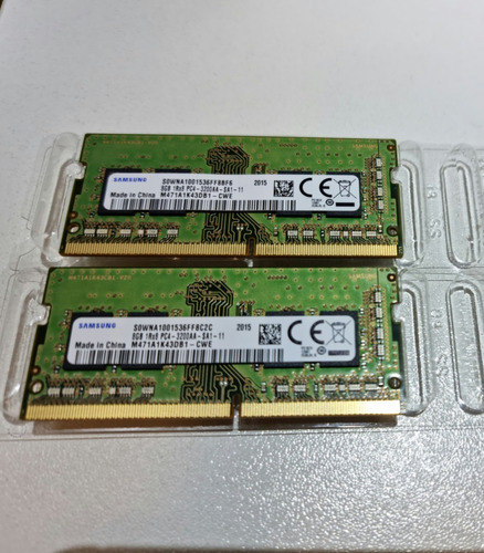 Memória Ram Samsung 8gb+8gb Dddr4 3200mhz Notebook