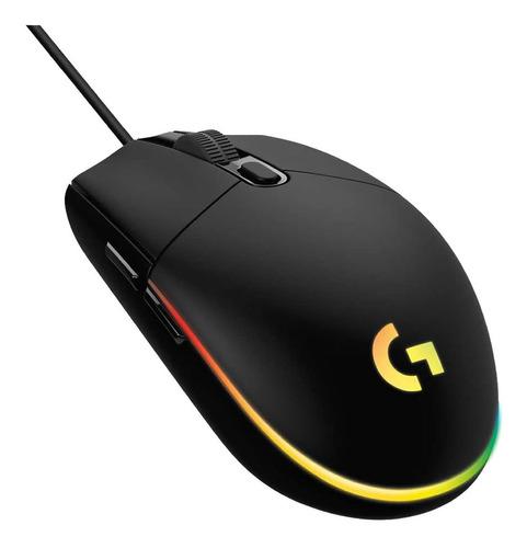Mouse Logitech G203 Gamer Optico 200 A 8000 Dpi Led Rgb