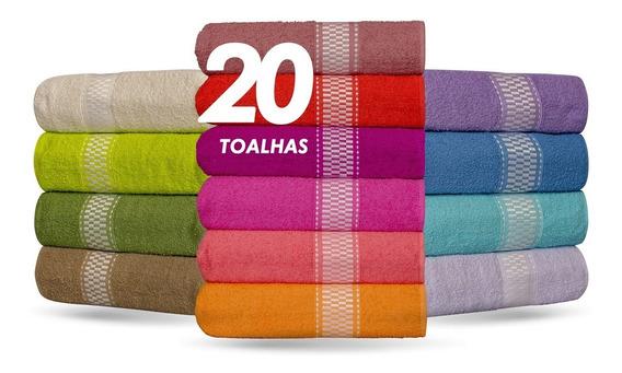 Kit 20 Toalhas De Banho - Barra - 270g/m² Mega Oferta !