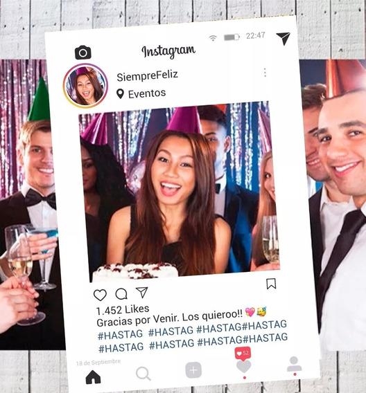 Marco Instagram Redes Sociales 50x70cm Cumpleaños Souvenir