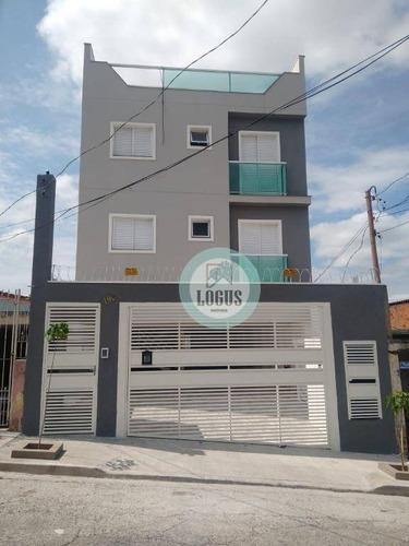 Imagem 1 de 24 de Apartamento Com 48m², Composto Por 2 Dormitórios, À Venda Por R$ 255.000,00 - Vila Bela Vista - Santo André/sp - Ap1614