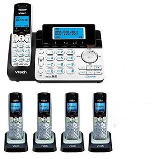 Vtech Ds6151 Teléfono Inalámbrico Expansible De 2 Líneas Con