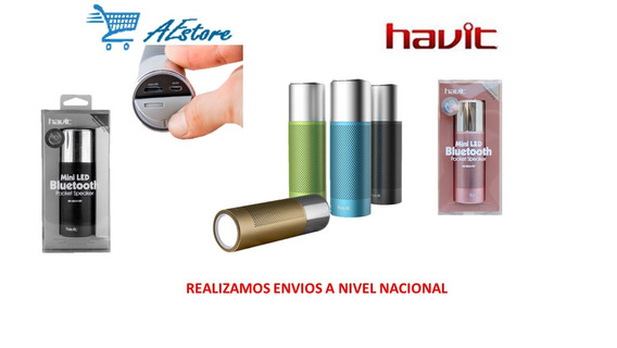 Parlante Bluetooth Linterna Led Havit Hv-sk551bt Metalico