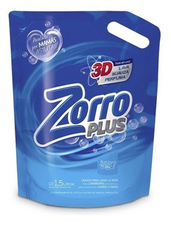 Zorro Plus 3d Jabón Liquido Para Ropa Doypack X 3lts