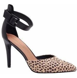 Steve Madden Girl Electraa Cheeta Heel Tacones 24 Mx (7 Usa)