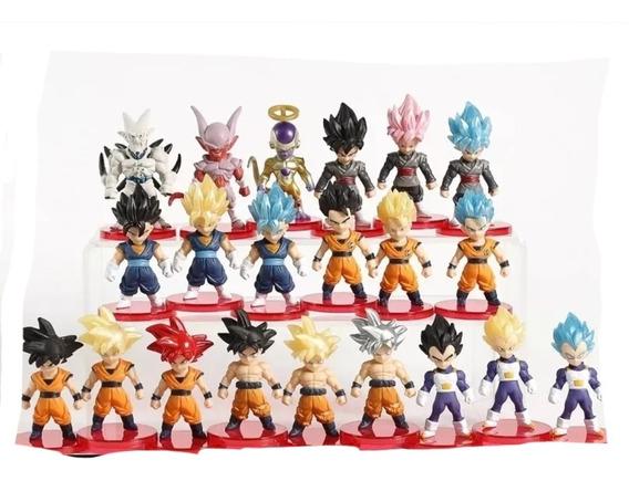 Dragon Ball Juguetes Mini Colección 21 Piezas 5 Cm Goku Etc