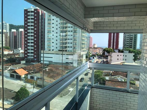 Oportunidade! Apartamento Novo Com 3 Dormitórios À Venda, 112 M² Por R$ 450.000 - Canto Do Forte - Praia Grande/sp - Ap2653
