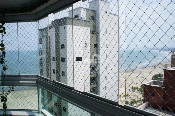 Excelente Apartamento Com Vista Mar E Á 30m Da Praia Á Venda, Canto Do Forte, Praia Grande. - Ap2481