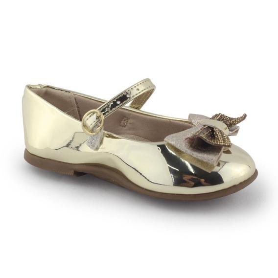 Sapatilha Sapato Infantil Dourado 2106165 - Molekinha