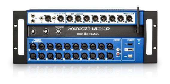 Mesa De Som Soundcraft Ui24 R 24 Canais Usb Wifi Ui 24 Ui24r