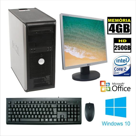 Computador Dell 755 Torre Core 2 Duo 3.0 4gb Completo Barato