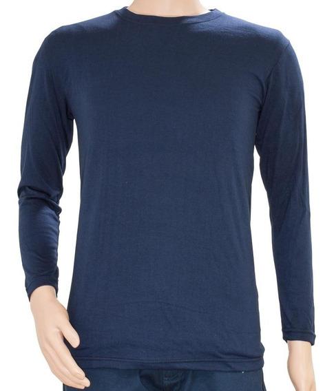 Camiseta Manga Larga- Hombre- Lisa