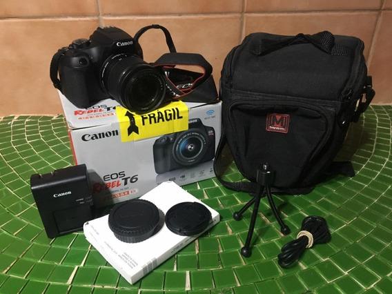 Câmera Semi Nova - Canon Eos Rebel T6 - Com Kit