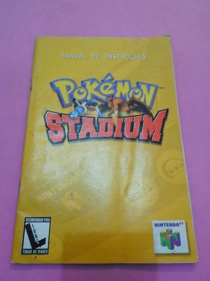 Manual Original Do Jogo Pokemon Stadium Nintendo 64 N64