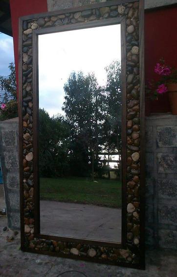 Espejo Artesanal Marco De Piedra.