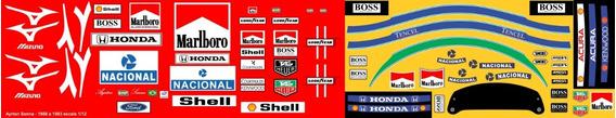 Decalque Para Figura Ayrton Senna Na Mclaren Escala 1/12