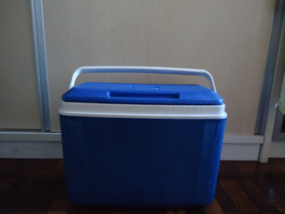 Caixa Térmica Cooler Azul 02 Usada
