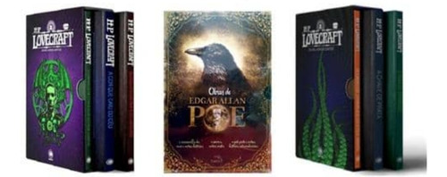 Imagem 1 de 1 de Box Edgar Allan Poe E Hp Lovecraft 9 Volumes