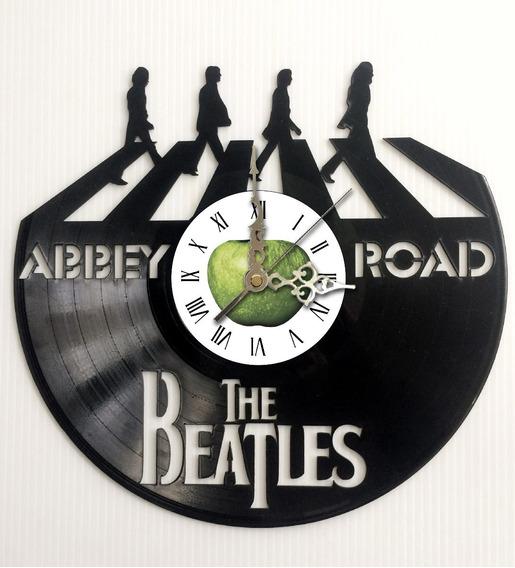 Reloj Pared Disco Vinilo Acetato Beatles Abbey Road