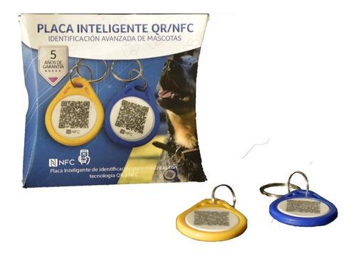 Imagen 1 de 5 de (10 Pack) Smart Tag/placa Inteligente Qr Y Nfc Para Mascotas