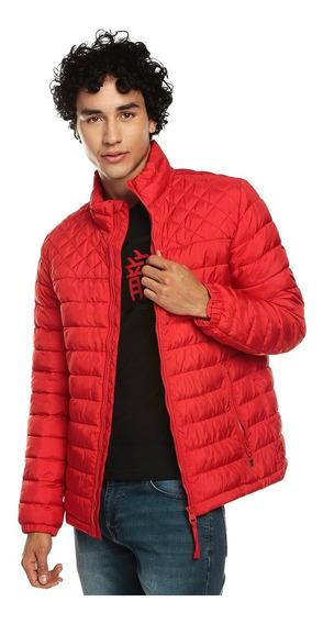Chaqueta Para Hombre Cuello Alto Colman Rojo
