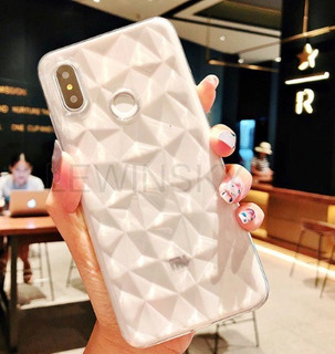 Capa Case Transparente Diamante Xiaomi Redmi Note 6 Pro