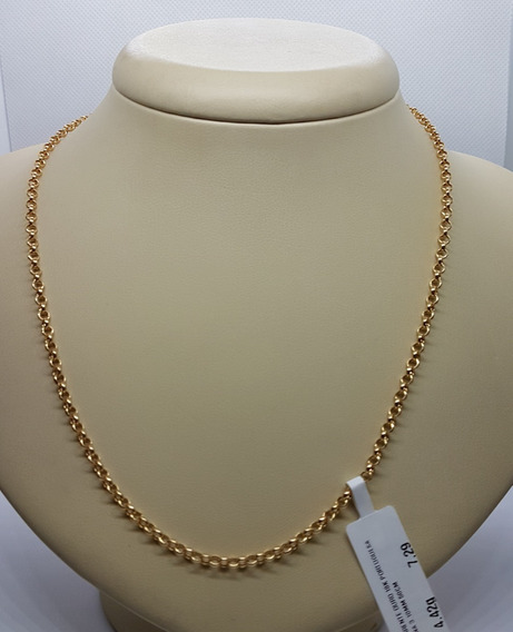Corrente Ouro 18k Portuguesa Fina 50cm 4,42g