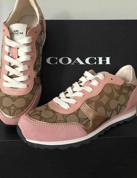 Tennis Coach 100% Originales! Rosas/caky Logo. Nuevos
