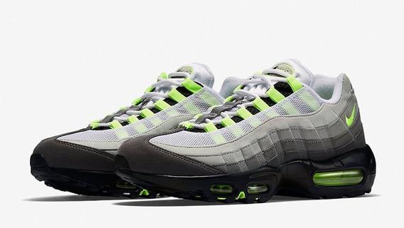 Zapatillas Nike Air Max 95 Og Neon Gris Verde // Nuevo 2018
