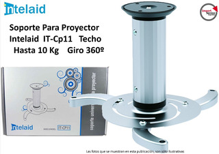 Soporte P/proyector Intelaid It-cp11 Techo Hasta 10 Kg 360º