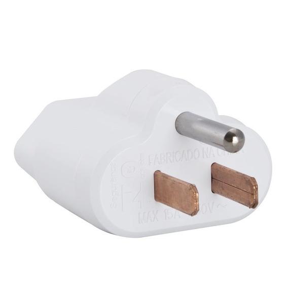 Plugue Adaptador Reverso 2p+t 15a 250v Branco 57400/192