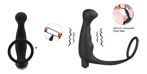Imagen 1 de 6 de Juguete Sexual Vibrador Plug Anal Y Anillo De Pene Xtreme