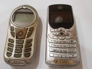 Celular Motorola C115 E C350i Para Coleção Ou Retirar Peças