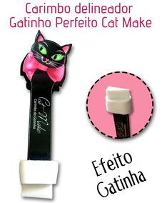 Carimbo Delineador Gatinho Perfeito Cat Make - Unidade