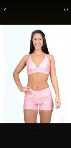 Conjunto Qeb Sport Rosa Impecable Talle Xs