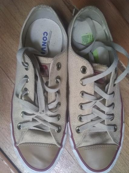 Zapatillas Converse T 39. Lino. Casi Nuevas . Oferta !!!