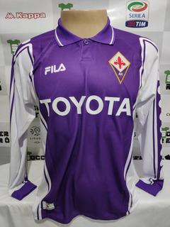 Camisa Fiorentina 1999-00 Batistuta 9 Manga Longa À P/ Ent