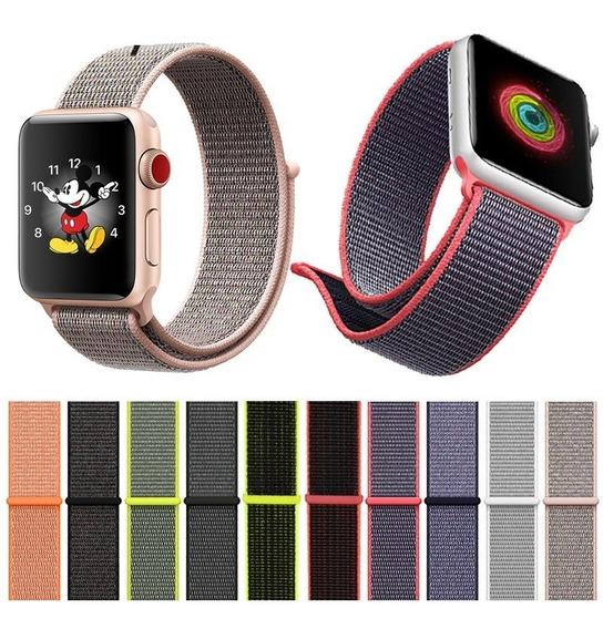 Extensible Correa Para Apple Watch Serie1 2 3 4 Nylon Ligero