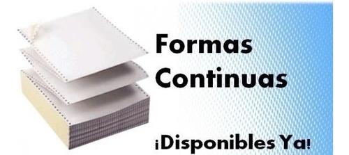 Forma Continua 91/2x51/2 Mediacarta 2parte 2500forma Quimico