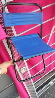 Silla Plegable Chica Con Respaldo Ideal Camping