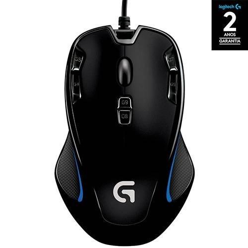 Mouse Gamer Logitech G300s 2.500 Dpi Pc Nf E Garantia Novo
